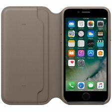 For iPhone SE 2020 Leather Case Genuine Folio Flip Wallet Grey Case Stand Cover