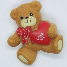 Vintage Lucy Rigg Teddy Bear Pin Love Me 1984 Valentine'S Day