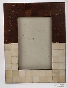 Large Brown Cream MosaicPhoto Picture Snapshot  Frame Standing