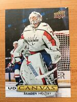 UPPER DECK 2019-2020 SERIES TWO BRADEN HOLTBY CANVAS HOCKEY CARD C-149