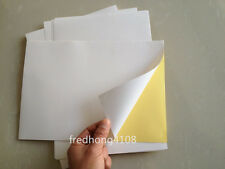 10pc A4 Glossy Printable Self Adhesive Sticker Paper Printer Paper Sheet white