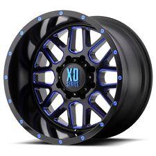 20 Inch Black Blue Wheels Rims LIFTED Ford F 250 F 350 8x6.5 Lug XD820 20x10 NEW