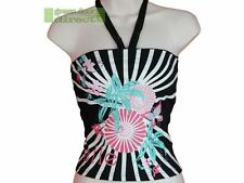 Women's Cotton Blend Floral Stretch Vest Top, Strappy, Cami Tops & Shirts
