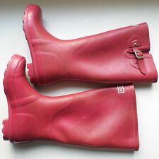 Pink Kangol Wellington Boots With Pink Hunter Socks UK 3 / EU 36 - FREE POST