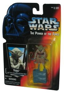 Star Wars Power of The Force (1995) Yoda Backpack Red Card Figure w/ Gimer Stick