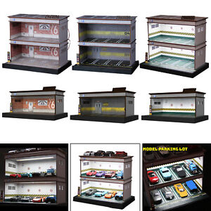 Diorama Garage Display Case for 1:64 Scale Car Collectors Gifts Decoration