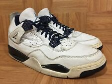 Vintage🔥 Nike Air Jordan 4 IV Retro+ White Columbia Blue Navy S 14.5 136030-141