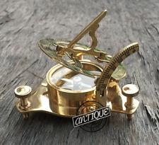 Marine Sundial/Compass Old West London Working Sundiel Clock Marine Vintage Xmas