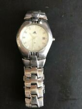 PRE-OWNED VINTAGE ADIDAS SILVER FACE WATCH NEEDS BATTERY