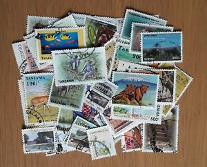 50 all different used Tanzania postage stamps