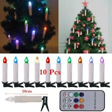 10Pcs Wireless LED Remote Control Candles Lights Christmas Tree Home Decorations