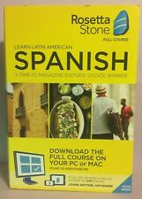 Rosetta Stone - Latin America Spanish Full Course - New, Free Shipping