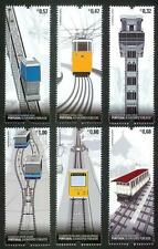 PORTUGAL PORTUGUESE CABLE CARS - 6 MNH STAMPS - 2010
