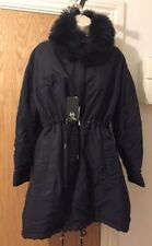 McQ by Alexander Mcqueen Shearling Collar Parka Size UK 4/IT 40