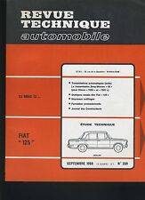 (30A) REVUE TECHNIQUE AUTOMOBILE FIAT 125