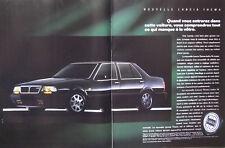 PUBLICITÉ DE PRESSE 1989 LANCIA THEMA TURBO 16 SOUPAPES - ADVERTISING