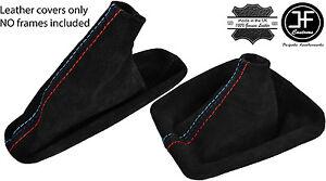 BLACK STITCH FAUX SUEDE SHIFT & E BRAKE BOOTS FOR BMW E36 E46 91-05 M/// STITCH