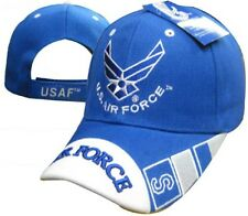 U.S. Air Force USAF Wings Logo Crest Royal Blue Embroidered Cap Hat (TOPW)