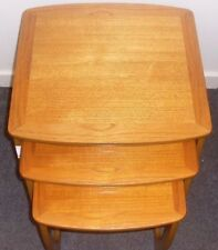 Wood Veneer Vintage/Retro 3 Nested Tables