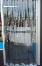 VermaRid PVC DOOR CURTAIN / INSECT 860mmw x 2100mml - 75mm Clear PVC strips