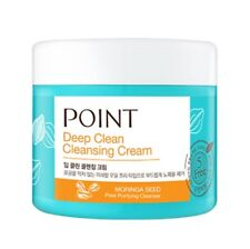 POINT Deep Clean Clensing cream 300 ml pore purifying cleanser With Moringa Seed