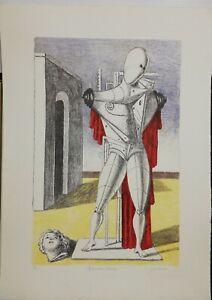 Giorgio de chirico litografia originale