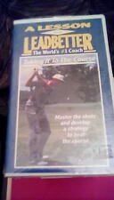 A Lesson with Leadbetter Taking It to the Course VHS golf instruction lesson NEW