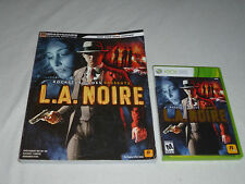 Xbox 360 La Noire Game & Signature Series Strategy Guide Lot Rockstar Games