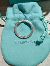 Chain Round Circle Love Charm w/ Pouch Tiffany & Co Sterling Silver Key Ring Key