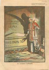 Pius Pio Pie XII Crypte Pape Pie XI Grotte Vaticane Sepolcro Italia   WWII 1939