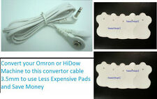OMRON HV-F115, HV-F116, HV-F122 HV-F002A COMPATIBLE CABLE+14 ELECTROTHERAPY PADS