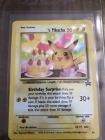 Nm MINT Pokemon _'s BIRTHDAY PIKACHU  BLACK STAR PROMO Set #24 Holo WOTC PSA RDY