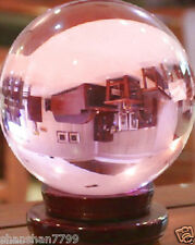Hot Huge 100mm PINK Magic Crystal Healing Ball Sphere + free Stand AAA