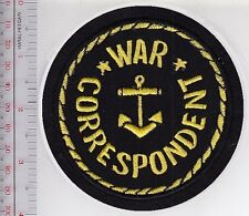 US Navy USN WWII Naval War Correspondent Shoulder patch on Black felt