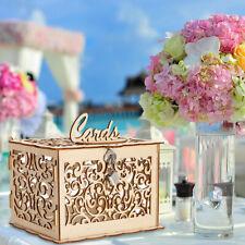 Cartão Presente De Casamento Caixa De Dinheiro De Madeira Rústico Casamento Noivado Presente Decoração Com Trava