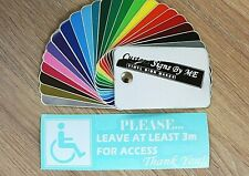 Please Leave At Least 3m Car Sticker Disabled Badge Vinyl Decal Adhesive WHITE