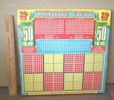 Vintage - Punch Board - Positive Fifty - Trade Stimulator - Fast Free Ship!