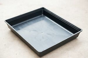 Garden Black Plastic Rectangle Plant Seed Seedling Propagation Photo Hydro Tray
