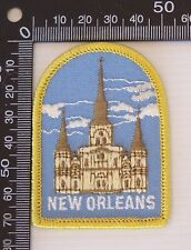 VINTAGE NEW ORLEANS USA EMBROIDERED SOUVENIR PATCH WOVEN CLOTH SEW-ON BADGE