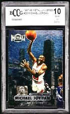 1997-98 METAL UNIVERSE #23 MICHAEL JORDAN *BCCG 10 MINT OR BETTER *FOIL!