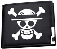 One Piece Anime Straw Hat Pirates Black Wallet