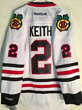 Reebok Premier NHL Jersey Chicago Blackhawks Duncan Keith White sz M