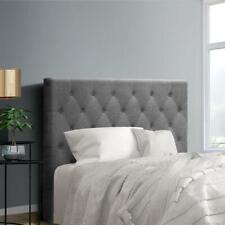 Hot King Single Size Bed Head Headboard Bedhead Fabric Frame Base Cappi Grey