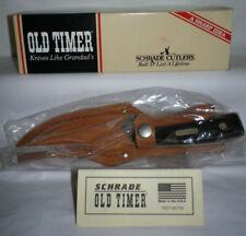 NEW Vtg OLD TIMER Schrade 152OT Fixed Blade Sharpfinger Knife Leather Sheath USA