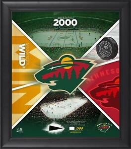 """Minnesota Wild Framed 15"""" x 17"""" Team Impact Collage with a Piece of GU Puck"""