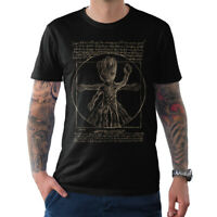 Vitruvian Groot Graphic T-Shirt, Guardians Of The Galaxy Marvel Comics Tee