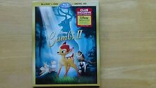 Disney Exclusive BAMBI II Blu-Ray + DVD  + Digital HD New Sealed Sleeve