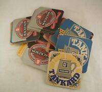 28 Vintage beermats coaster whitbread shandy tankard english ale trophy mackeson
