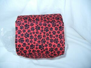 """Dog Puppy Belly Band Wrap Contoured Diapers Male Puppy Flannel lined 16"""" RED PAW"""
