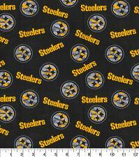 NFL PITTSBURGH STEELERS - CAMO LOGO 100% Cotton Fabric 1/4 yd, 9